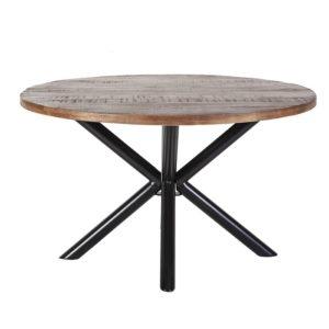 Eettafel rond met kruispoot 150x150