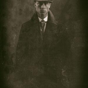 Vintage man staand