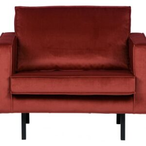 Rodeo fauteuil velvet chestnut